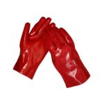rode pvc handschoenen